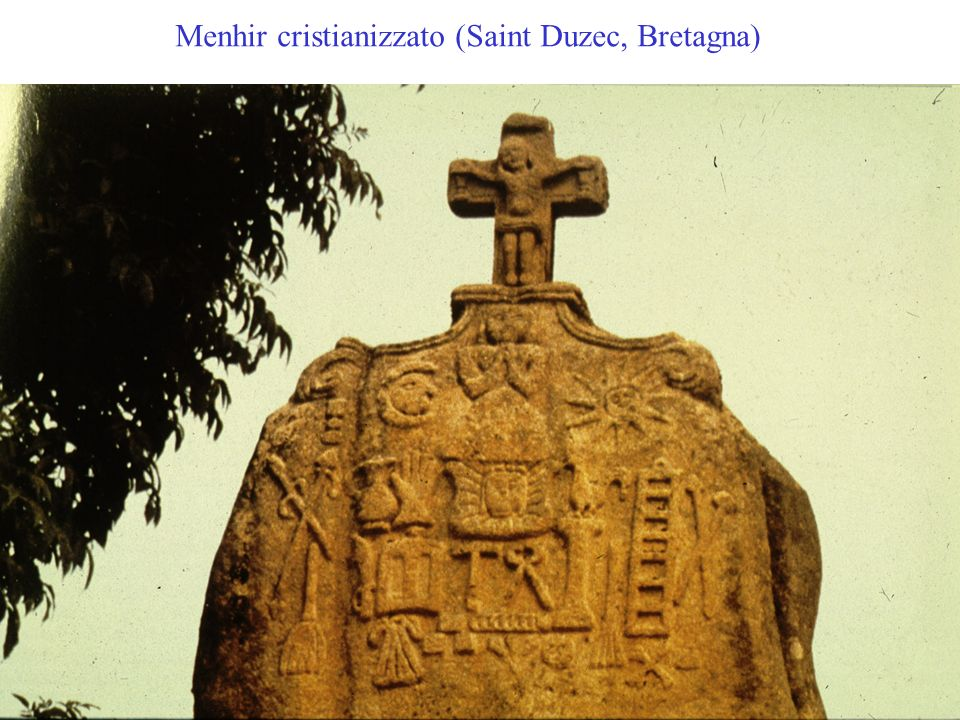 Menhir cristianizzato (Saint Duzec, Bretagna)