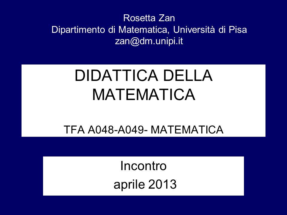 DIDATTICA DELLA MATEMATICA TFA A048-A049- MATEMATICA