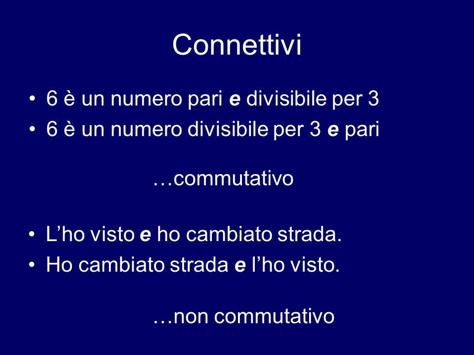 Connettivi 6 è un numero pari e divisibile per 3