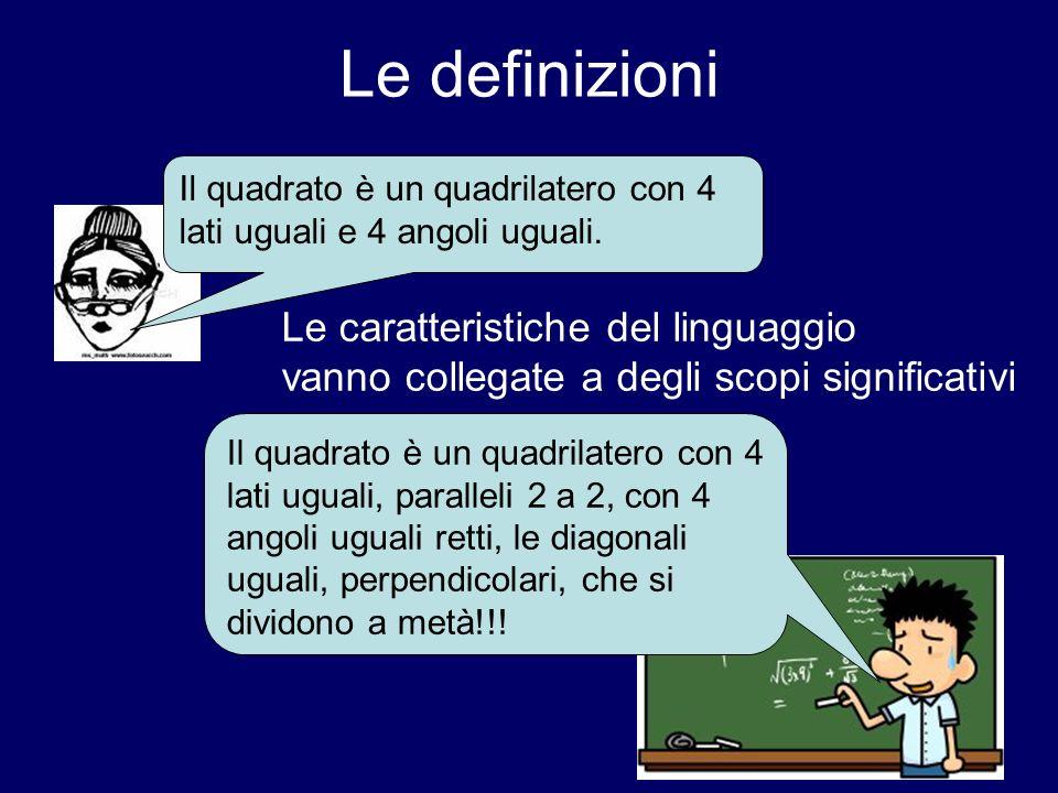 Le definizioni Le caratteristiche del linguaggio
