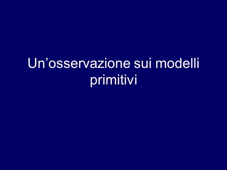 Un'osservazione sui modelli primitivi