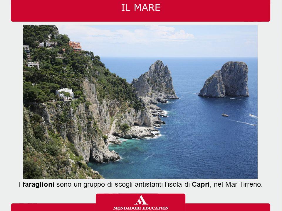 IL MARE I faraglioni sono un gruppo di scogli antistanti l'isola di Capri, nel Mar Tirreno.