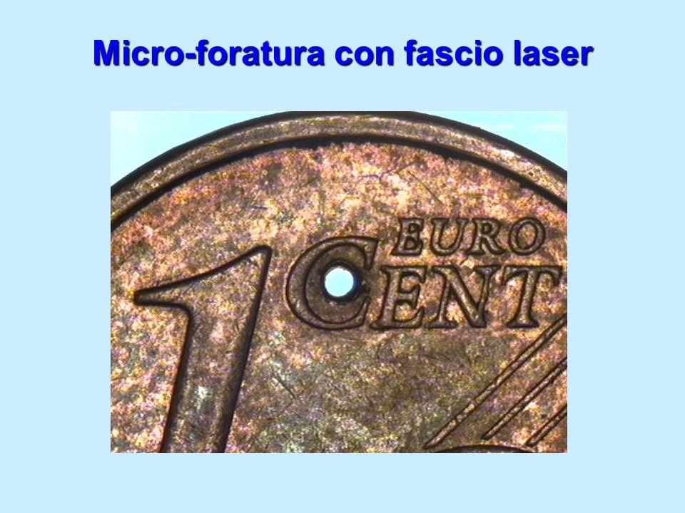 Micro-foratura con fascio laser