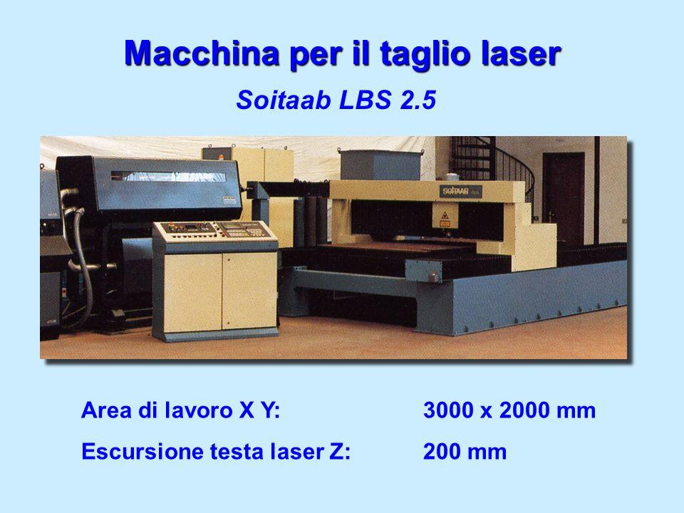 Macchina per il taglio laser