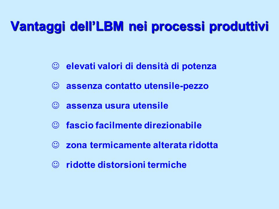 Vantaggi dell'LBM nei processi produttivi