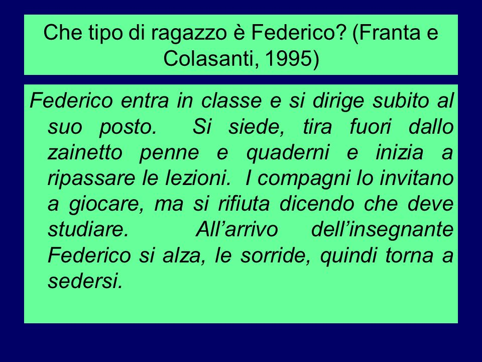Che tipo di ragazzo è Federico (Franta e Colasanti, 1995)