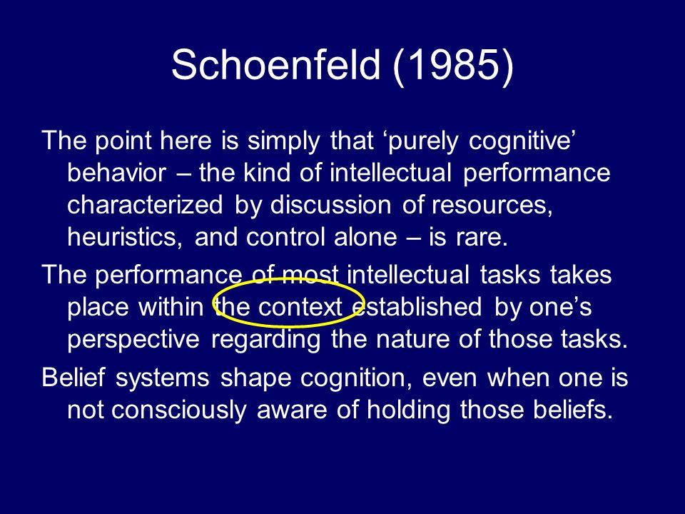 Schoenfeld (1985)