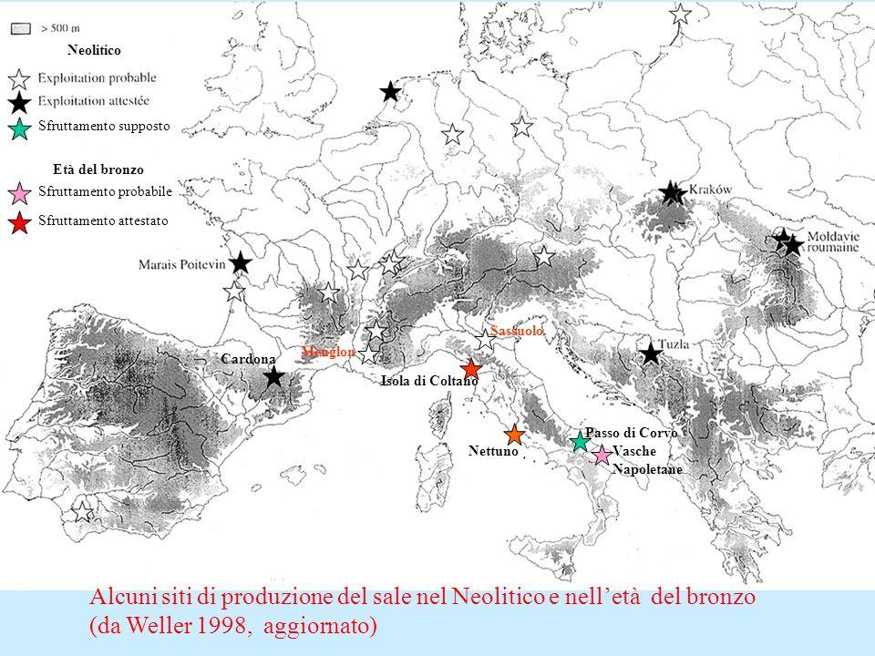 Alcuni siti di produzione del sale nel Neolitico e nell'età del bronzo