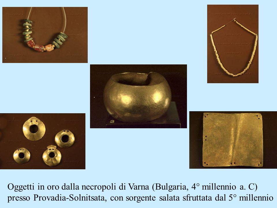 Oggetti in oro dalla necropoli di Varna (Bulgaria, 4° millennio a. C)