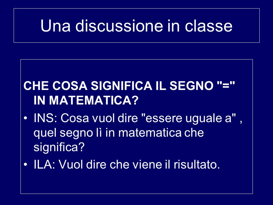 Una discussione in classe