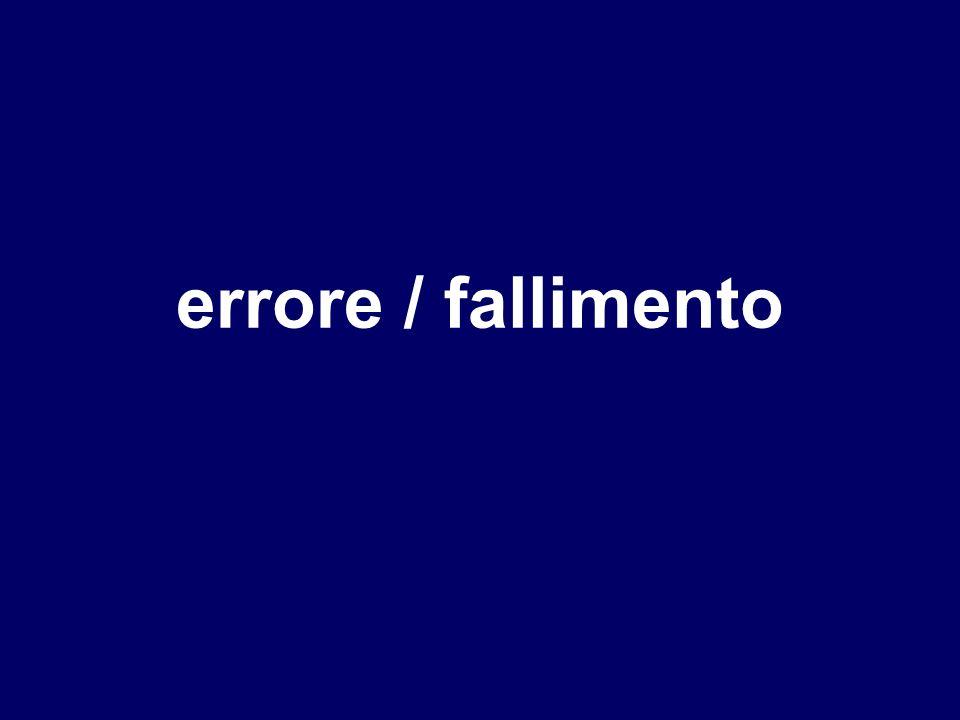 errore / fallimento