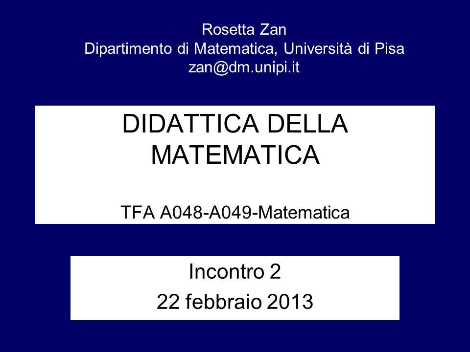 DIDATTICA DELLA MATEMATICA TFA A048-A049-Matematica