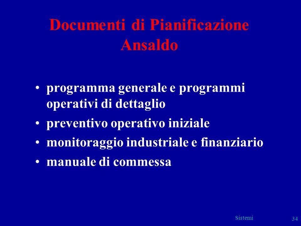 Documenti di Pianificazione Ansaldo