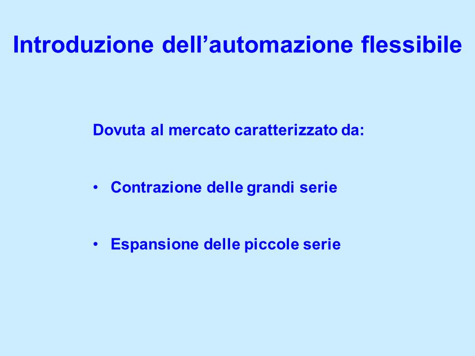 Introduzione dell'automazione flessibile