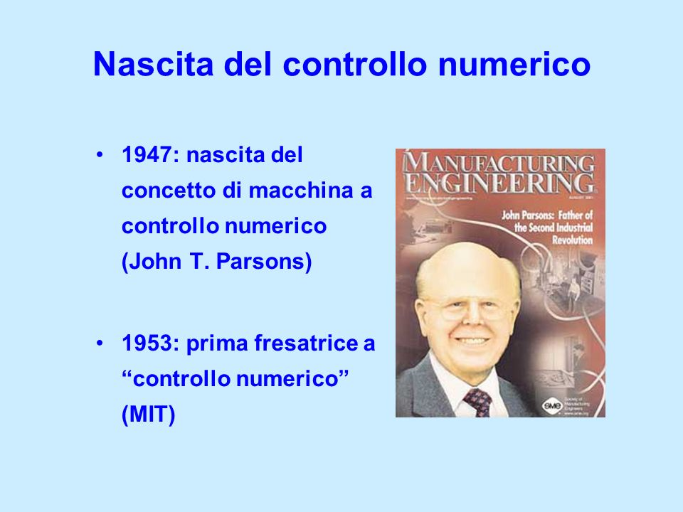 Nascita del controllo numerico