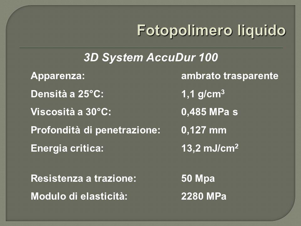 Fotopolimero liquido 3D System AccuDur 100