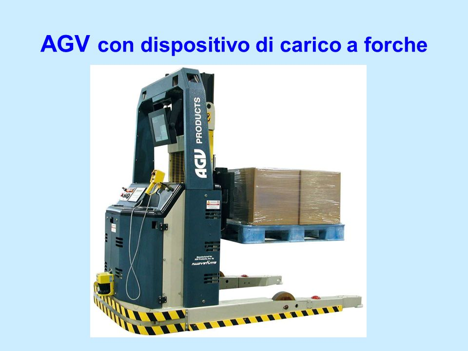 AGV con dispositivo di carico a forche