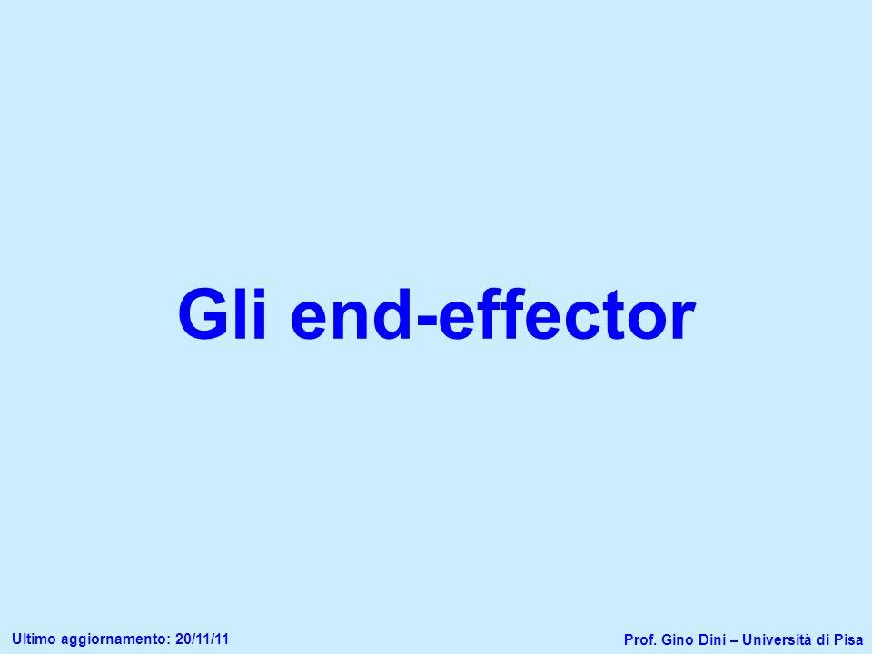 Gli end-effector Ultimo aggiornamento: 20/11/11