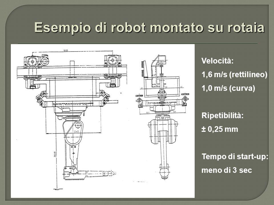 Esempio di robot montato su rotaia