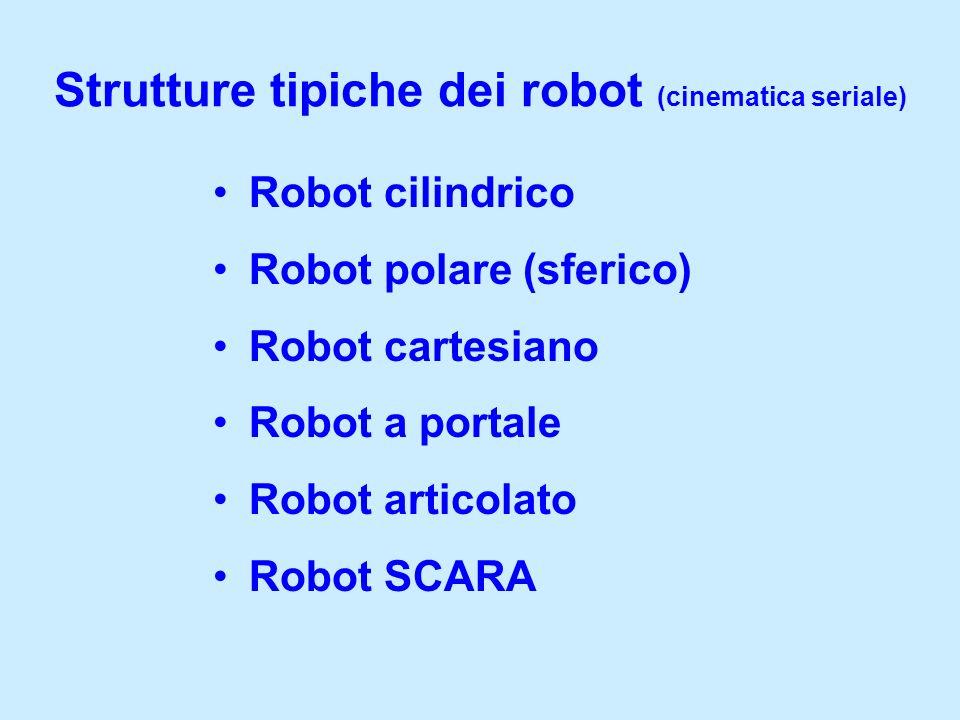 Strutture tipiche dei robot (cinematica seriale)