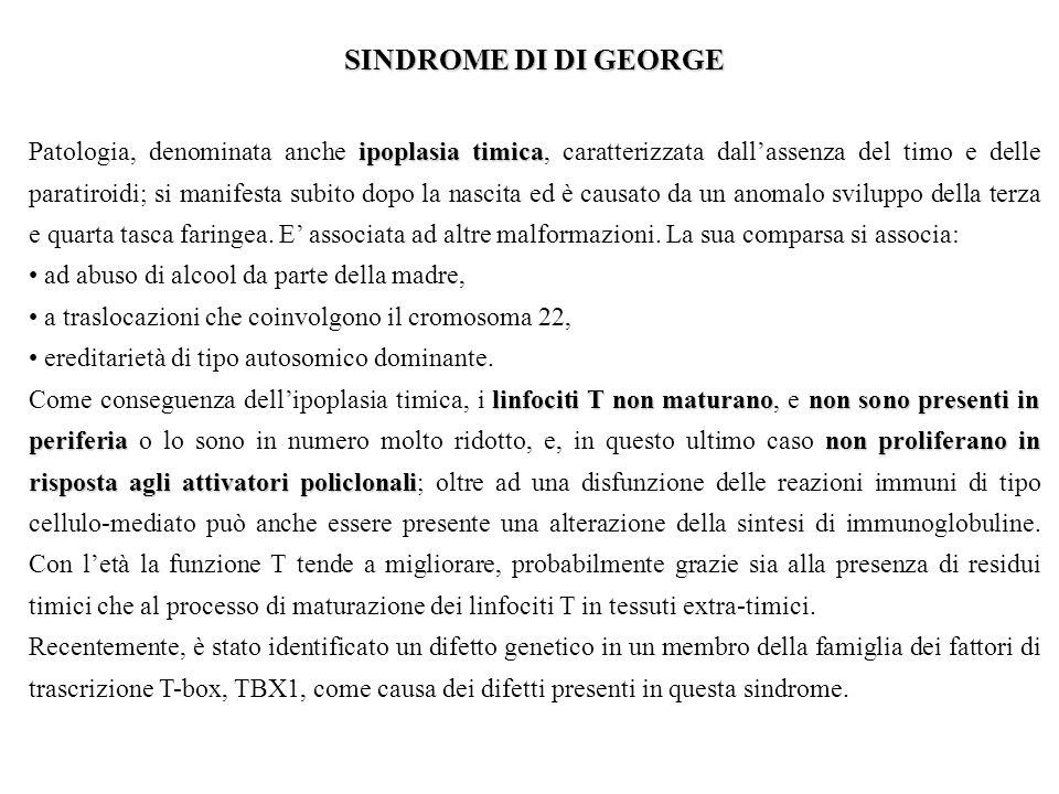 SINDROME DI DI GEORGE