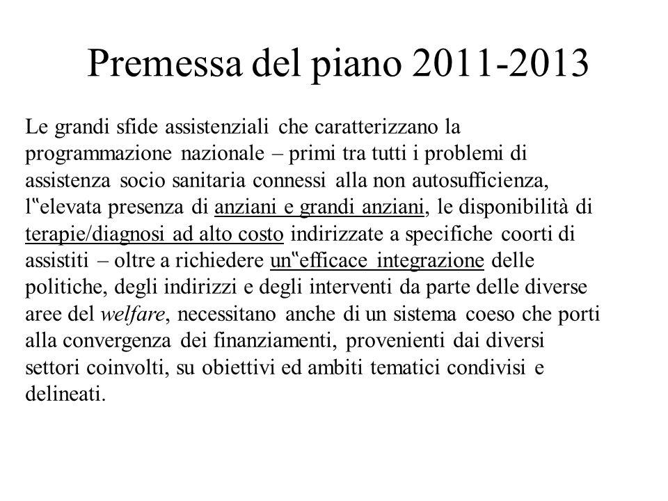 Premessa del piano 2011-2013