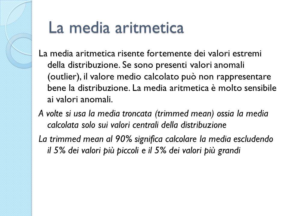 La media aritmetica