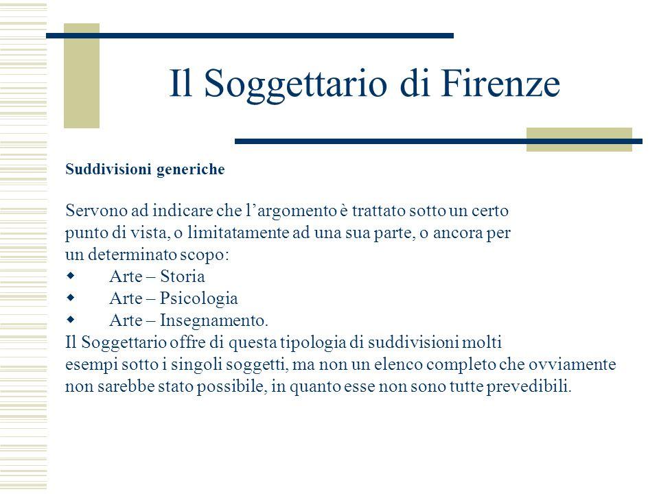 Il Soggettario di Firenze
