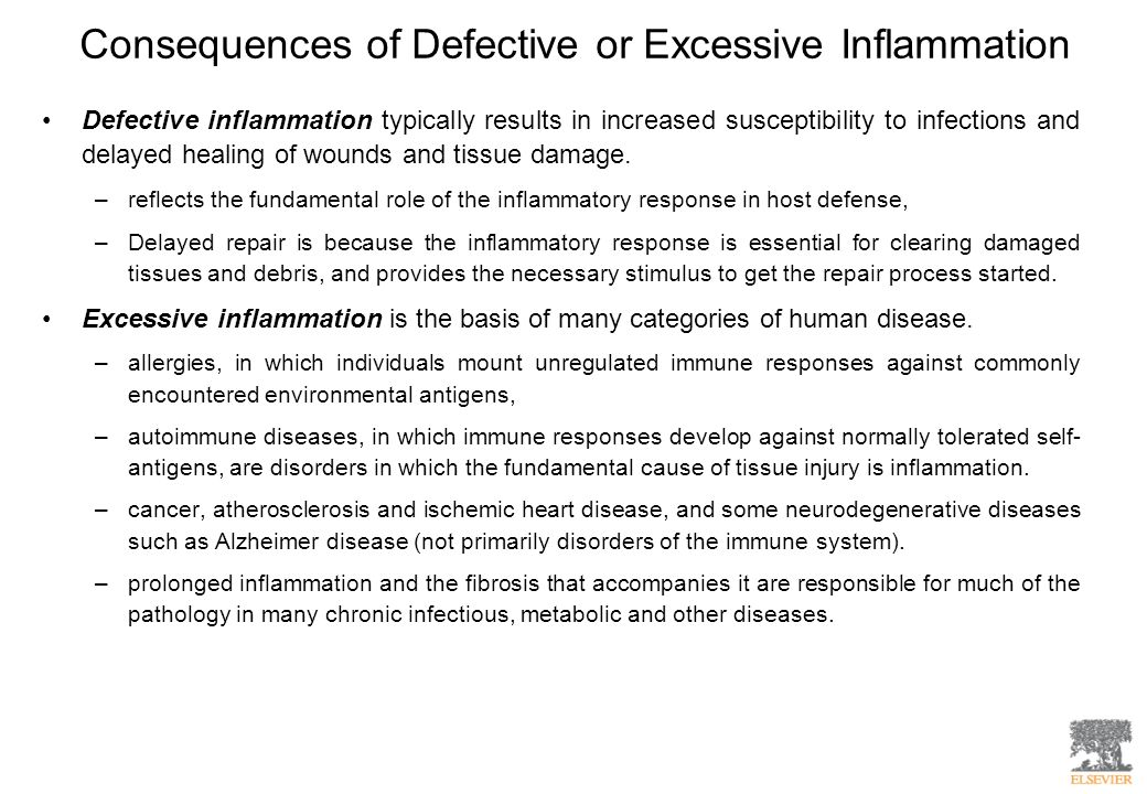 Consequences of Defective or Excessive Inflammation