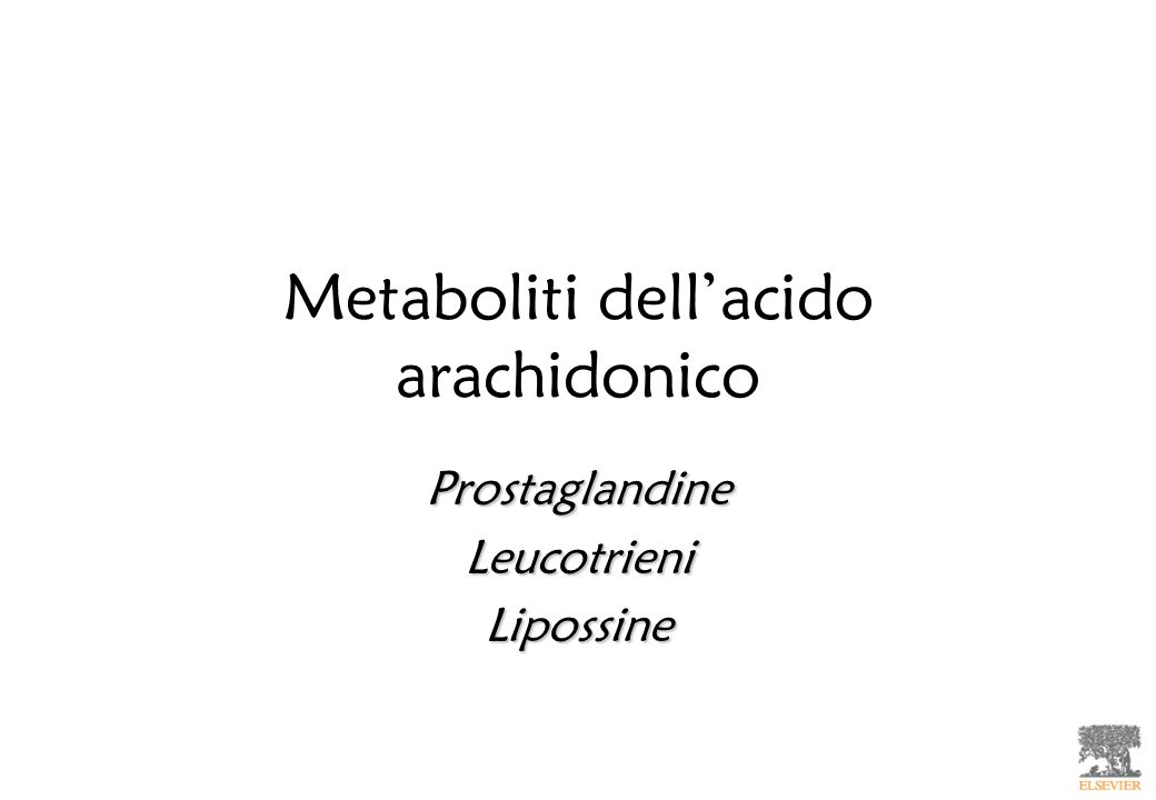 Metaboliti dell'acido arachidonico