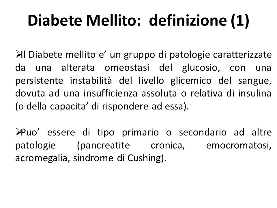 Diabete Mellito: definizione (1)