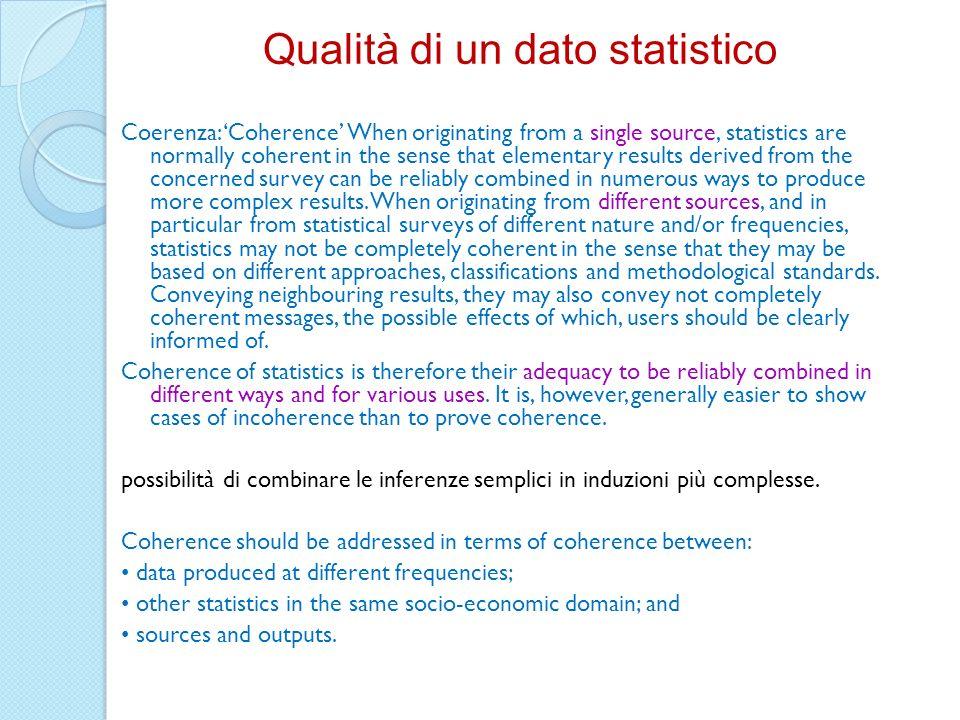 Qualità di un dato statistico