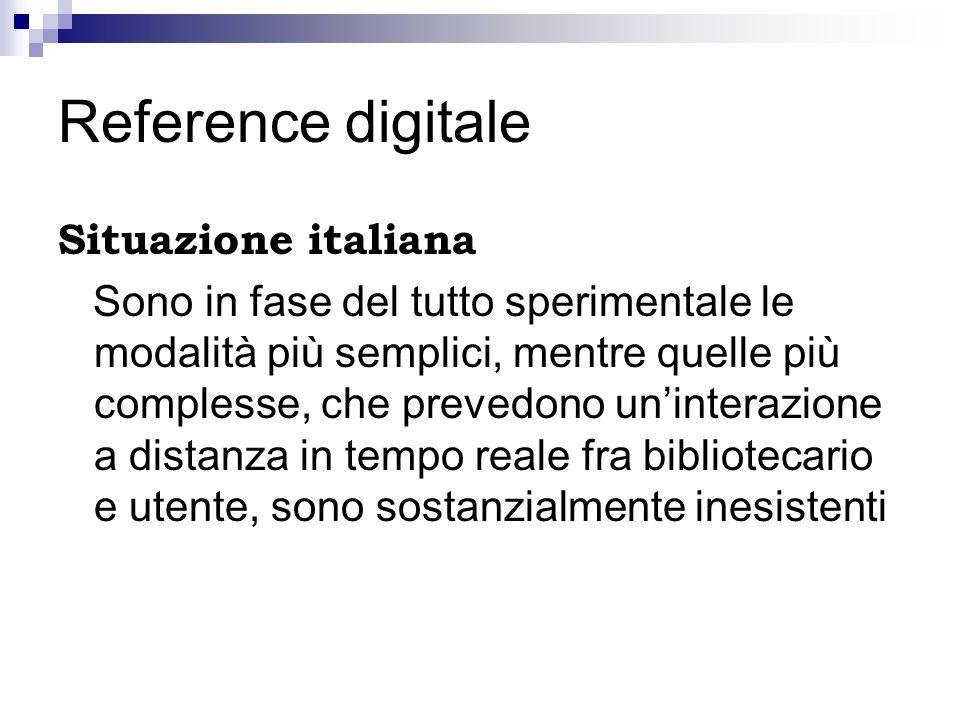 Reference digitale Situazione italiana