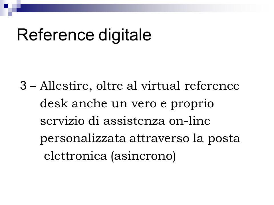Reference digitale 3 – Allestire, oltre al virtual reference