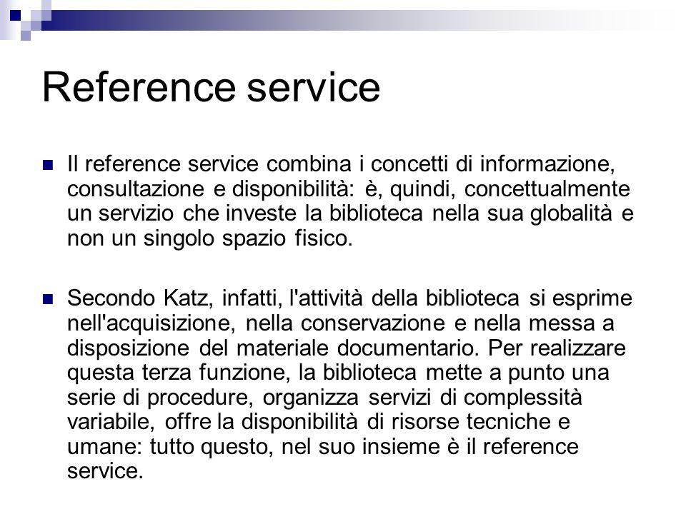 Reference service