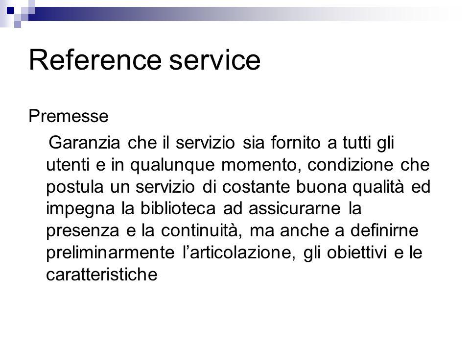 Reference service Premesse