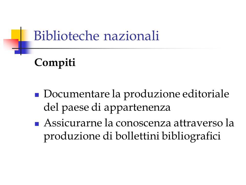 Biblioteche nazionali