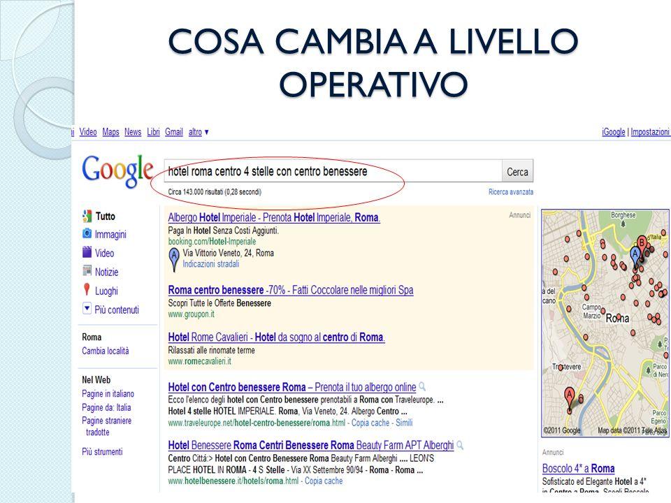 COSA CAMBIA A LIVELLO OPERATIVO