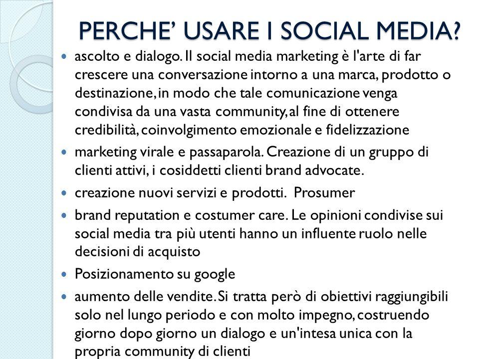 PERCHE' USARE I SOCIAL MEDIA