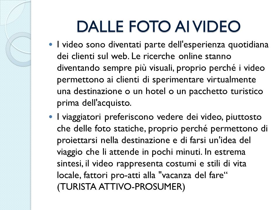 DALLE FOTO AI VIDEO