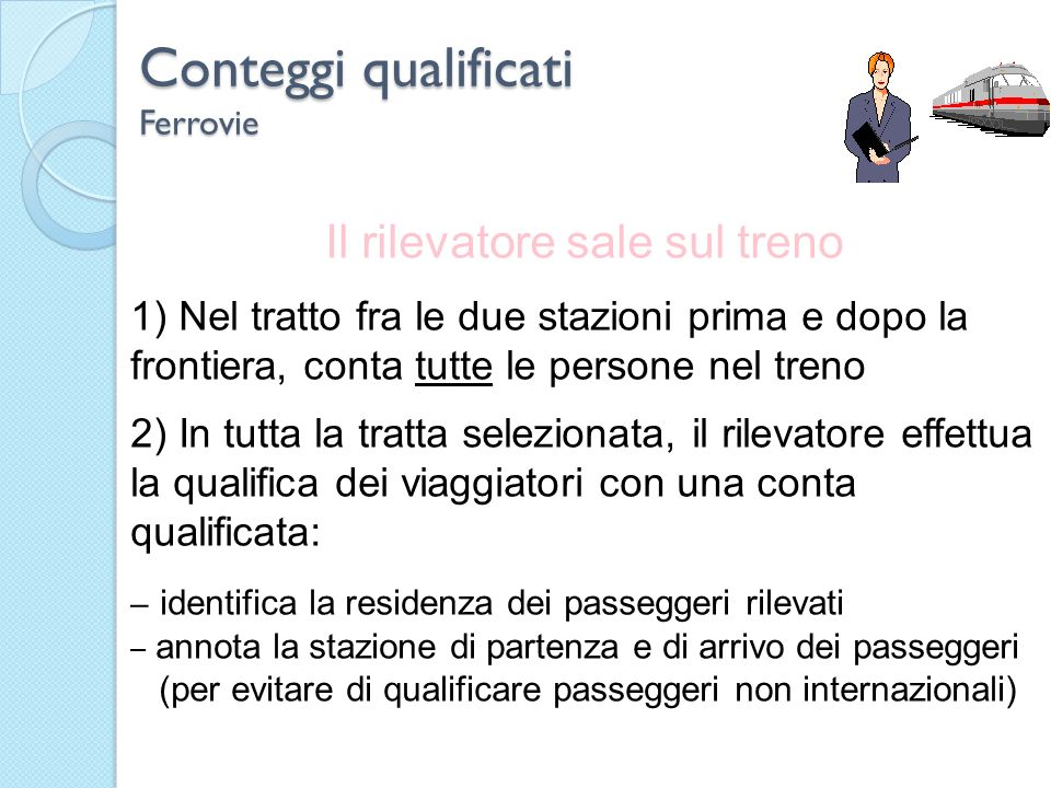 Conteggi qualificati Ferrovie