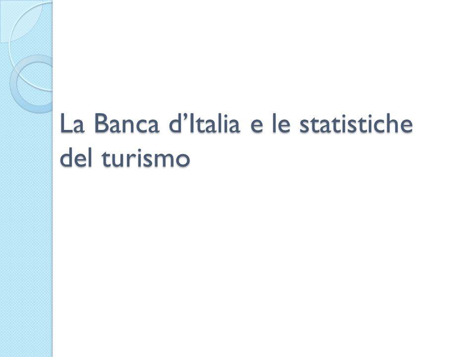La Banca d'Italia e le statistiche del turismo