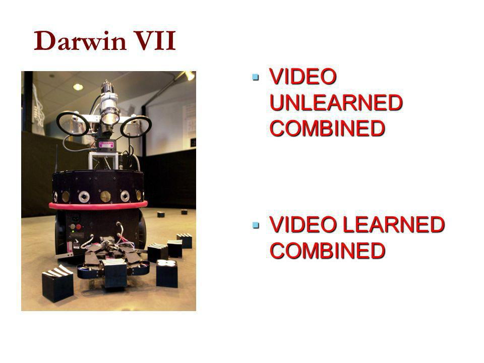 Darwin VII VIDEO UNLEARNED COMBINED VIDEO LEARNED COMBINED