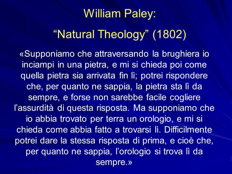 William Paley: Natural Theology (1802)