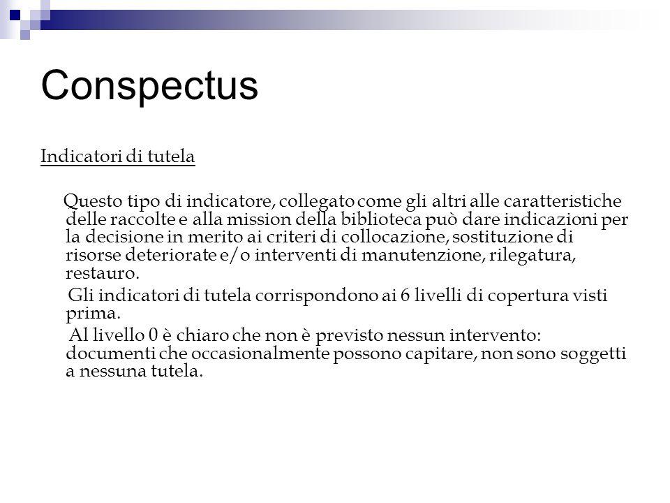 Conspectus Indicatori di tutela