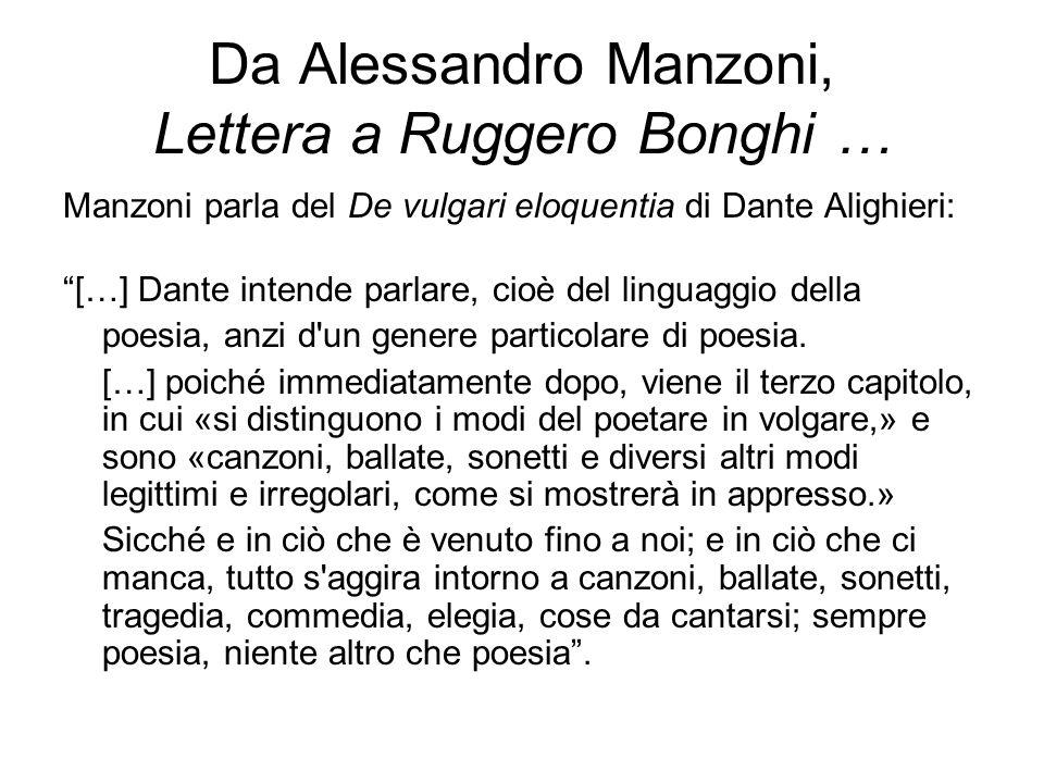 Da Alessandro Manzoni, Lettera a Ruggero Bonghi …
