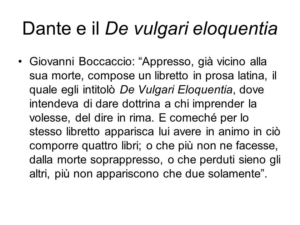 Dante e il De vulgari eloquentia