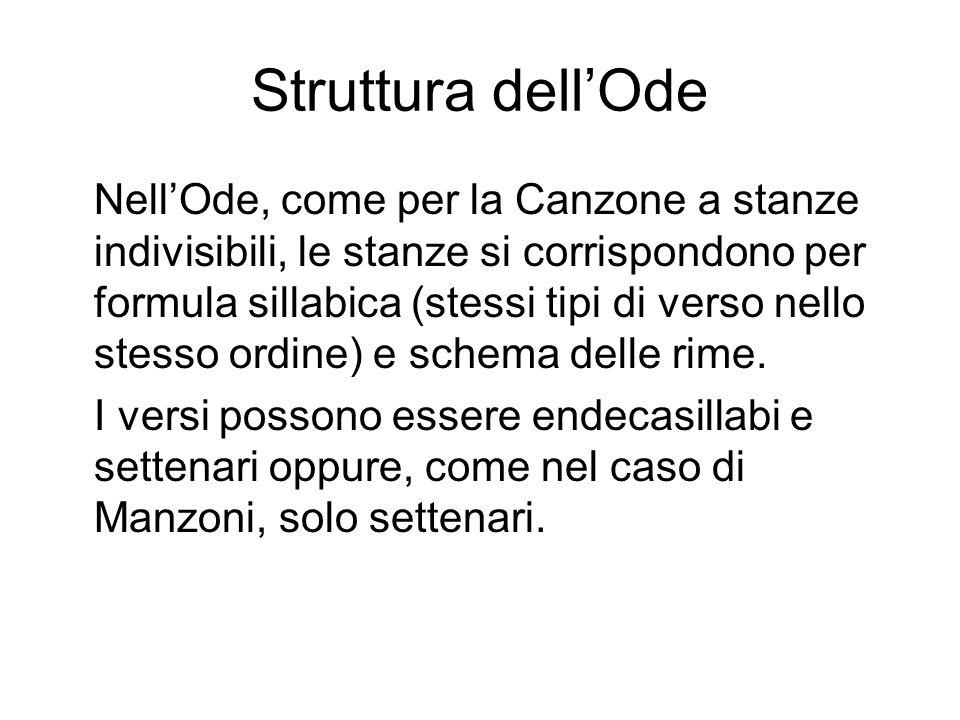 Struttura dell'Ode