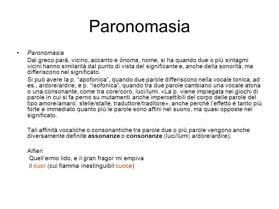 Paronomasia Paronomasia