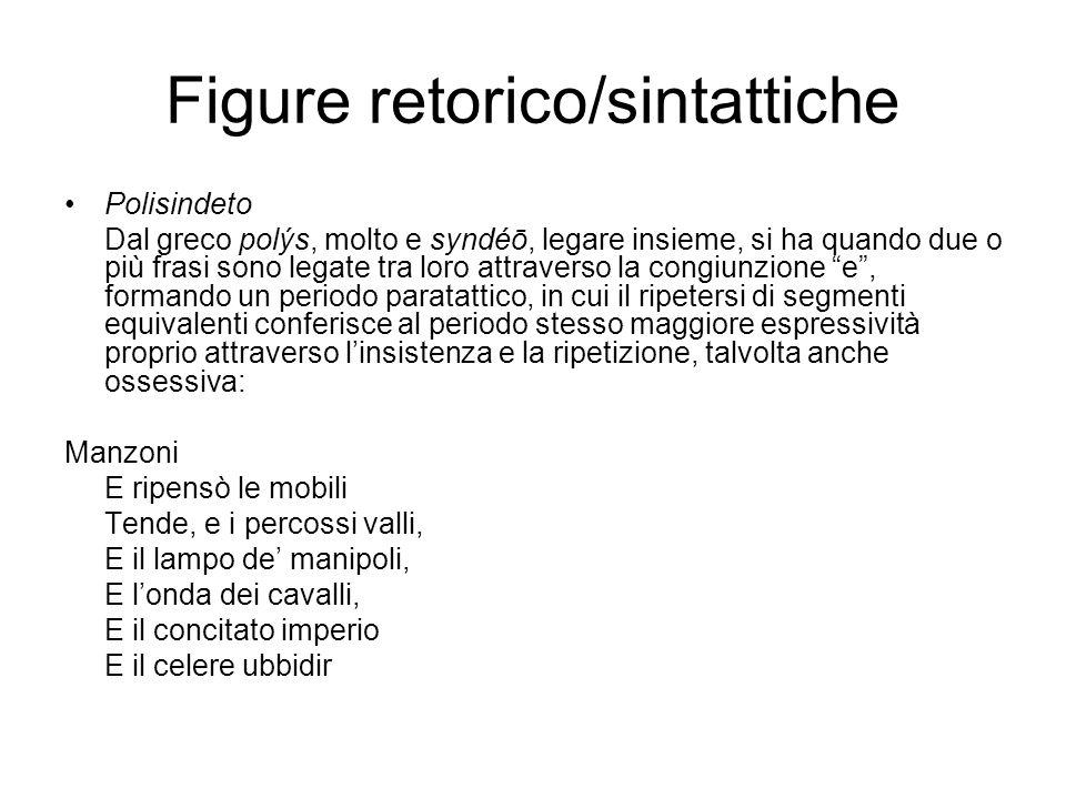 Figure retorico/sintattiche